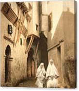 Algeria: Street Scene, C1899 Canvas Print