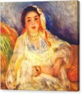 Algerian Woman Seated 1882 Canvas Print