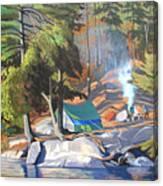 Algonquin Campsite Canvas Print