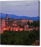 Alhambra Granada Dusk Canvas Print