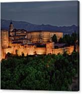 Alhambra Sunset Canvas Print