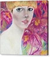 Ali Macgraw In Orange Hat Canvas Print
