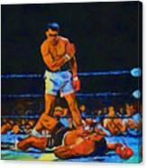 Ali Over Liston Canvas Print