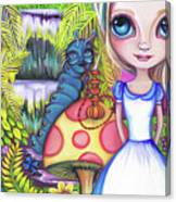 Alice And Absolem Canvas Print