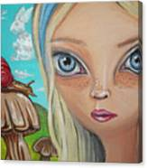 Alice Finds A Snail Canvas Print