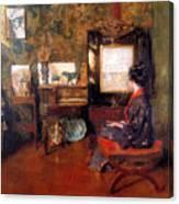 Alice In Studio In Shinnecock Canvas Print