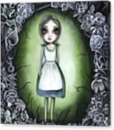 Alice In The Deadly Garden Canvas Print