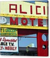 Alicia Motel Las Vegas Canvas Print