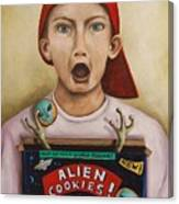 Alien Cookies Canvas Print