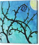 Alien Planet Blue Canvas Print