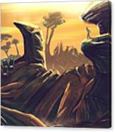 Alien Territory Canvas Print