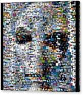 Alien Ufo Mosaic Canvas Print