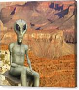 Alien Vacation - Grand Canyon Canvas Print