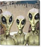 Alien Vacation - Hoover Dam Canvas Print
