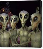 Alien Vacation - Kennedy Space Center Canvas Print
