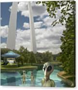 Alien Vacation - St. Louis Canvas Print