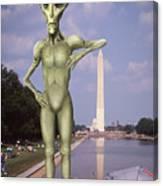 Alien Vacation - Washington D C Canvas Print