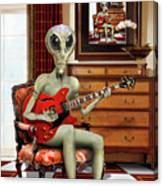 Alien Vacation - We Roll With Jazz Canvas Print
