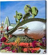 Aliens Spaceship 3 Canvas Print