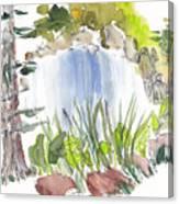 Alison's Waterfall Canvas Print
