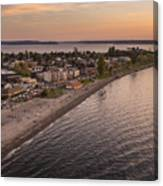 Alki Point Aerial Sunset Canvas Print