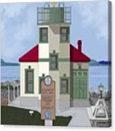 Alki Point On Elliott Bay Canvas Print