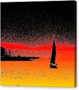Alki Sail  Canvas Print