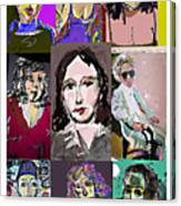 All About Faces 6 Canvas Print