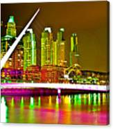 All Night Puerto Madero Canvas Print