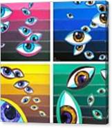 All Pictures With Eyes Canvas Print
