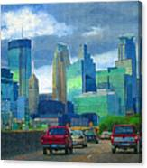 All Roads Lead To Minneapolis Canvas Print