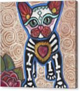 All Souls Day Aztec Canvas Print