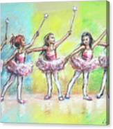 All Together Now...first Ballet Recital Canvas Print