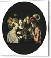 Allegory Of The 5 Senses Canvas Print