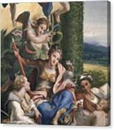 Allegory Of The Virtues Canvas Print