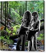 Allen And Steve Jam With Friends On Mt. Spokane Canvas Print