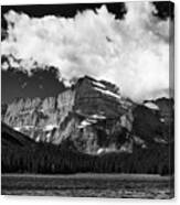 Allen Mountain Towers Over Swift Current Lake Canvas Print