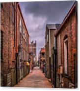 Alley A At Dawn Canvas Print