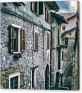 Alley In An Alpine Village #1 Canvas Print