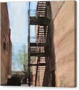 Alley W Fire Escape Canvas Print