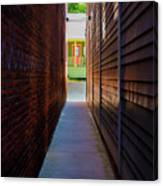 Alleyway To Green Canvas Print
