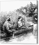 Alligator Hunt, 1888 Canvas Print