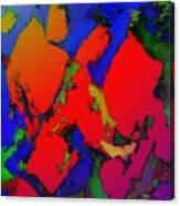 Alligator Red Glow Canvas Print