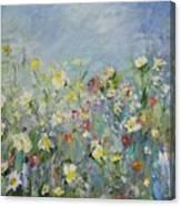 Allons Jouer Dans Les Fleurs Canvas Print