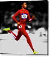Allyson Felix Ahead Of The Pack Canvas Print