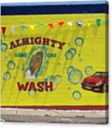 Almighty Car Wash Canvas Print