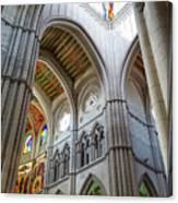 Almudena Cathedral Interior In Madrid Canvas Print
