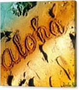 Aloha In The Sand Canvas Print