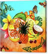 Aloha Tropical Fruits By Kaye Menner Canvas Print