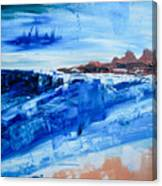 Alone By The Sea Abstract Seascape Canvas Print